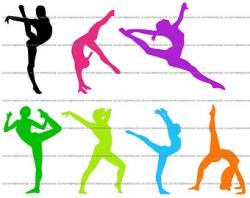 Gymnast clipart gymnastics moves