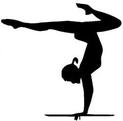 Gymnast clipart handstand