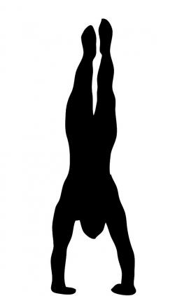 Shadows clipart handstand