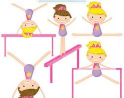 Gymnast clipart kid gymnastics