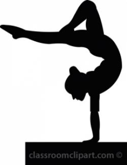 Gymnast clipart outline
