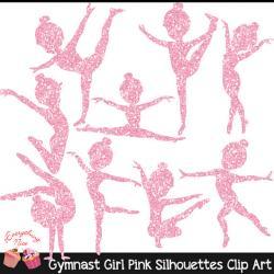 Gymnastics clipart glitter