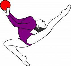 Gymnast clipart rhythmic gymnastics