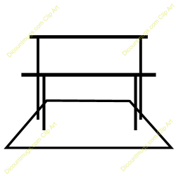Gymnast clipart uneven bar