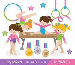 Gymnast clipart child gymnastics