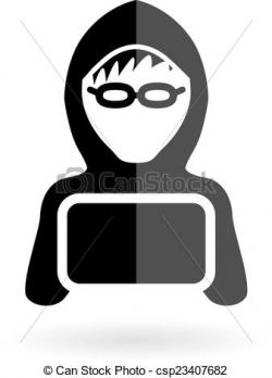 Hacker clipart black and white