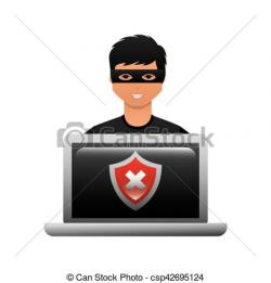 Cyber clipart laptop
