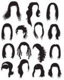 Hair clipart 80's