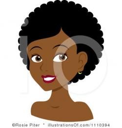 Dark Hair clipart curly