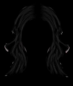 Dark Hair clipart black hair wig