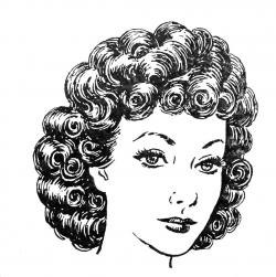 Curl clipart black and white