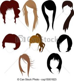 Hair clipart curly hair wig