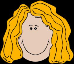 Blonde clipart wavy hair