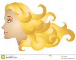 Blonde clipart long hair