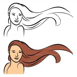 Maiden clipart long hair