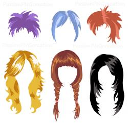 Pink Hair clipart wig