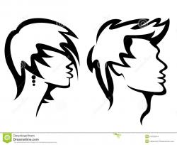 Men clipart hairstyle