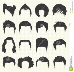 Short Hair clipart silhouette man