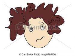 Hair clipart messy hair