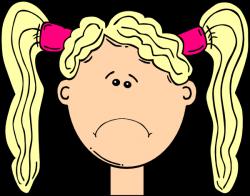 Blonde clipart sad
