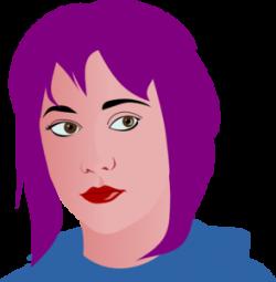 Hair clipart purple