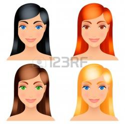 Dark Hair clipart straight hair