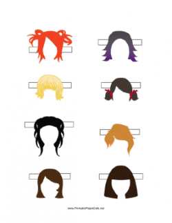 Hair clipart template