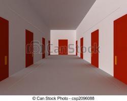 Corridor clipart house hallway