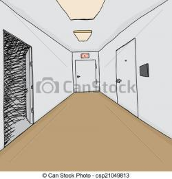 Corridor clipart cartoon