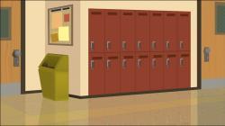Hallway clipart high school