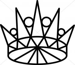 Thorns clipart gold crown
