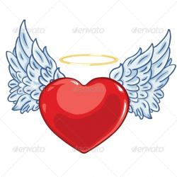 Halo clipart heart wing