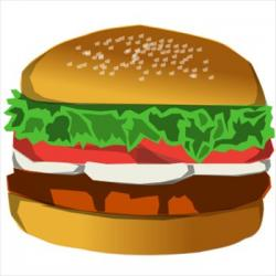 Burger clipart thick