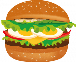Burger clipart delicious food