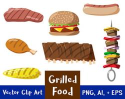 Hot Dog clipart 4th july