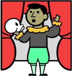 Hamlet clipart recitation