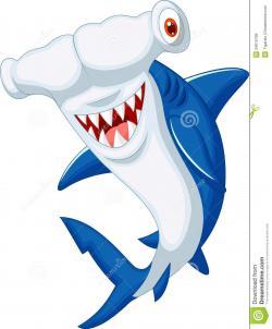 Hammerhead Shark clipart cute