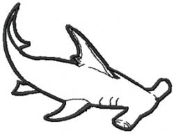 Hammerhead clipart shark outline
