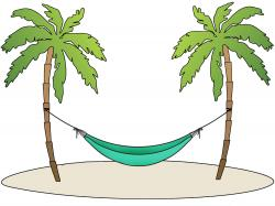 Exotic clipart palm tree hammock