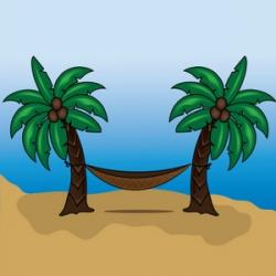 Palm Tree clipart tropical paradise