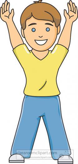 Boy clipart hands up