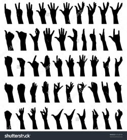 Hand Gesture clipart female