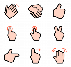 Hand Gesture clipart finger pointing