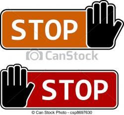 Stop clipart vector