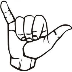 Hand Gesture clipart hang loose