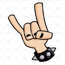 Hand Gesture clipart rock and roll