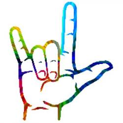 Hand Gesture clipart sign language i love you