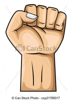 Hand Gesture clipart strong hand