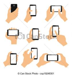 Hand Gesture clipart tablet