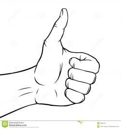 Hand Gesture clipart thumbs up